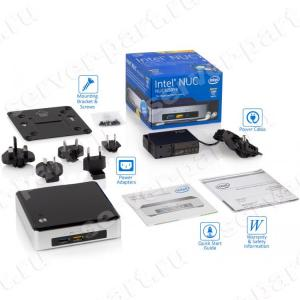 Платформа Intel NUC Core I5-5250U 1.6(2.7)Ghz/ 0(16)Gb DDRIII SO-DIMM/ Video HDMI miniDP/ 0(240)Gb HDD mSATA/ Sound/ LAN1000/ Wi-Fi a/b/g/n/ac/ Bluetooth/ 4USB3.0(936793)