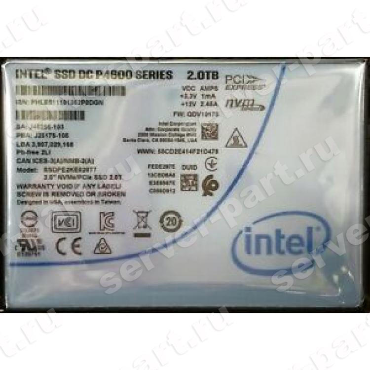 "Твердотелый Накопитель SSD Intel SSD DC P4600 Series 2Tb 3,2Гб/сек TRIM HHHL TLC 3D NAND PCI-E4x 3.1 2,5"" 15mm(954807)"
