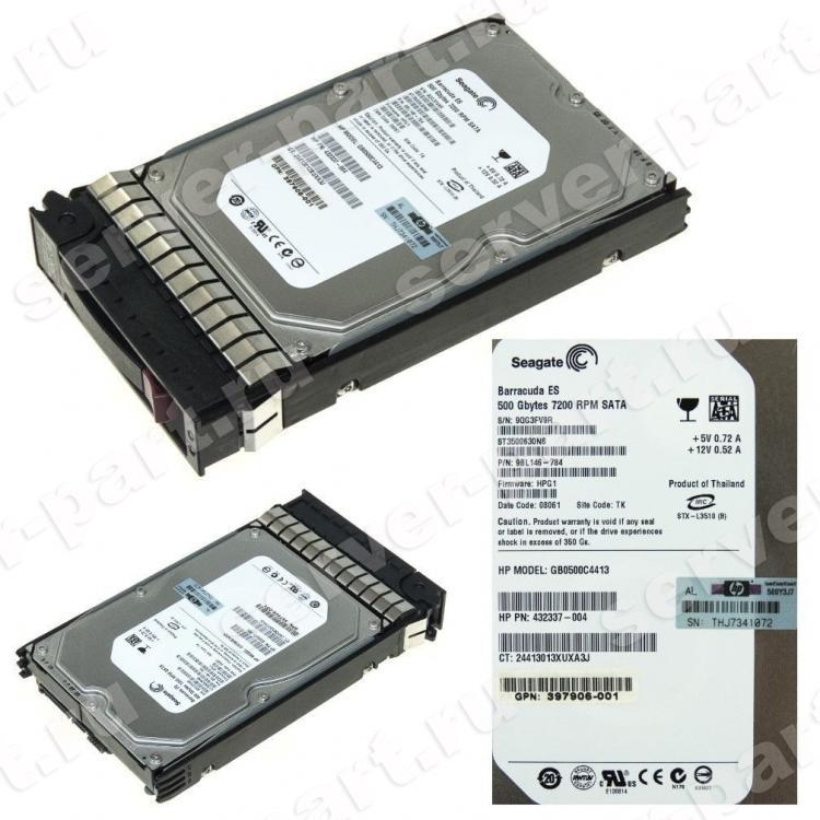 Жесткий Диск HP (Seagate) Barracuda ES ST3500630NS 500Gb (U300/7200/16Mb) NCQ SATAII For Gen5 Gen5p Gen6 Gen7(632410-B21)