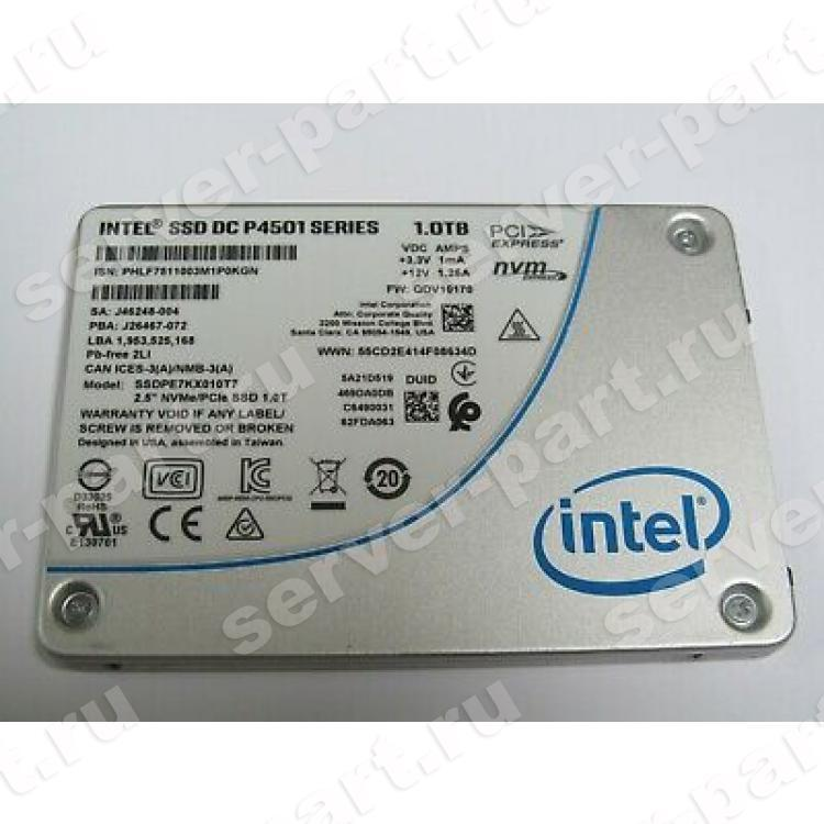 "Твердотелый Накопитель SSD Intel SSD DC P4501 Series 1Tb 3,2Гб/сек TRIM HHHL TLC 3D NAND PCI-E4x 3.1 2,5"" 7mm(957351)"