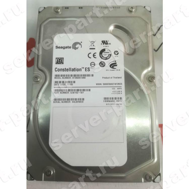 Жесткий Диск Seagate Constellation ES 500Gb (U300/7200/32Mb) SATAII(9JW152)