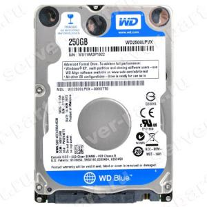 "Жесткий Диск Western Digital Blue 250Gb (U600/5400/8Mb) SATAIII 2,5""7mm(WD2500LPVX-00V0TT0)"