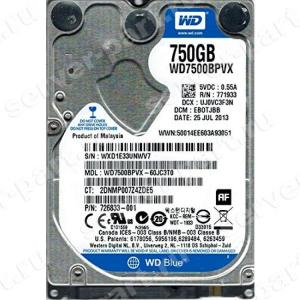 "Жесткий Диск Western Digital Blue 500Gb (U600/5400/8Mb) SATAIII 2,5""7mm(WD7500BPVX)"