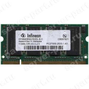 RAM SO-DIMM DDR333 Infineon 512Mb PC2700 CL2.5(HYS64D64020HDL-6)