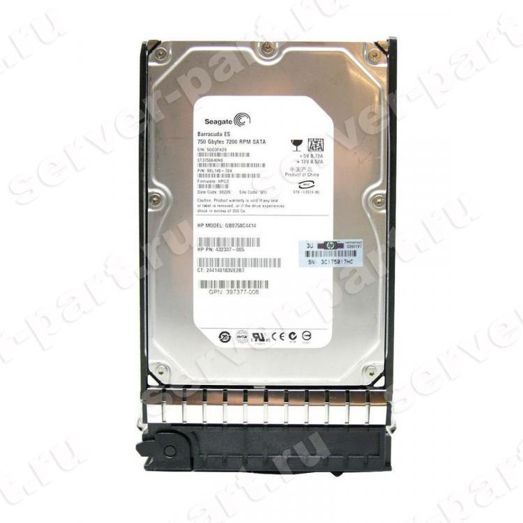 Жесткий Диск HP (Seagate) Barracuda ES ST3750640NS 750Gb (U300/7200/16Mb) NCQ SATAII For Gen5 Gen5p Gen6 Gen7(507515-001)