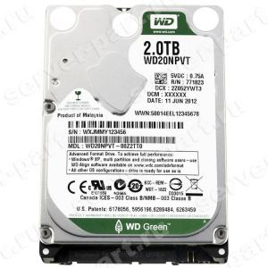 "Жесткий Диск Western Digital Green 2Tb (U300/IntelliPower/8Mb) SATAII 2,5"" 15mm(WD20NPVT-00Z2TT0)"